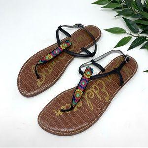 Sam Edelman Gigi Beaded Floral Leather Sandal 13